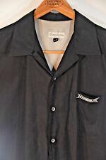 "Men's Black Boardroom Bowling Shirt - Large ""Hyperlight"" with Grey mesh panels"