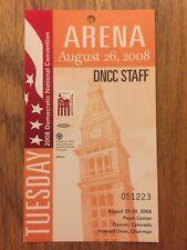 2008 Democratic National Convention ARENA DNCC STAFF Credential Barack Obama