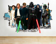 H999 Star Wars Vader Skywalker Smashed pegatina pared vinilo 3d habitación niños