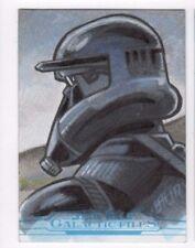 2017 Star Wars Galactic Files Reborn sketch card Brad Hudson (c)