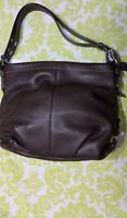 NWT Coach Mahogany Handbag Pebble Leather Duffle Hobo Bag F15064