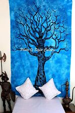 Indian Tree Of Life Mandala Tapestry Wall Hanging Bohemian Hippie Bedspread Twin