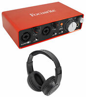 Focusrite SCARLETT 2I2 2nd Gen 192KHz USB 2.0 Audio Interface + Headphones