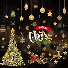 Christmas Wall Stickers Adhesive Window Decals Santa Xmas Festival Home Decor🔥