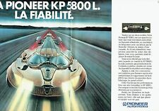 PUBLICITE ADVERTISING 0217  1981  Pioneer Autostereo (2p)  le KP 5800L
