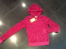 "NWT Juicy Couture New & Gen. Ladies Size Small Pink Cotton Hoody With ""J"" Pull"