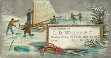 L.D. Wilbur & Co, 18 South Main St, Fall River MA, Victorian Tradecard 1880's