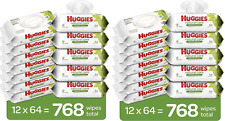 24 Flip-Top Packs (1536 Wipes) - Huggies Natural Care Sensitive Wipes, Unscented