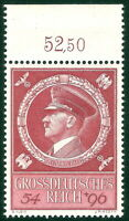DR Nazi 3rd Reich Rare WW2 WWII Stamp Hitler Head Fuhrer BirthDay Swastika Eagle