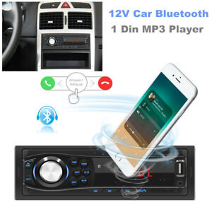1 Din Car Bluetooth Hands-free MP3 Player Card U Disk FM Radio Audio In-Dash Kit
