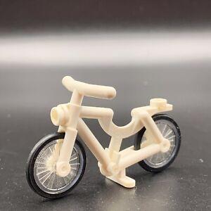 Lego Minifigure Riding Cycle Bicycle White