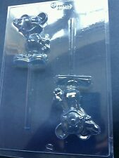 2 ON 1 MICKEY MOUSE LOLLY CHOCOLATE MOULD/MOULDS/DISNEY CHARACTERS/KIDS/REDUCED