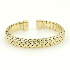 Tiffany & Co. 18k Yellow Gold Basket Weave Cuff Band Bracelet With Box