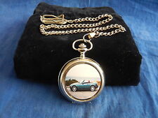 MAZDA MX5 CHROME POCKET WATCH WITH CHAIN (NEW) (2)
