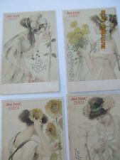 CPA   Style Mucha   Gala  Peter lot de 4 Femmes avec Fleurs