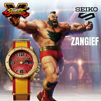 SEIKO 5 Sports Street Fighter V ZANGIEF Red Dial Limited Edition Watch SRPF24K1
