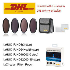 NiSi 72mm Filter Kit Circular Long Exposure ( ND8/1000/32000+ND64&CPL+Pouch )