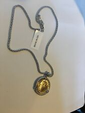 Sterling Silver Genuine 200 Lira Coin Necklace Chain 18''  Italy new