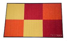 Schmutzfangmatte Fußmatte wash+dry Design 75 x 120 cm rot/orange