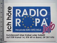 Aufkleber Sticker RADIO ROPA - Euro Info Welle (7232)
