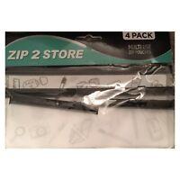 4 X Waterproof PVC Zip Pouch Transparent Clear Travel Bag