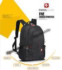 "SwissGear Wenger Laptop Backpack 15.6"" Notebook Schoolbag Black WATERPROOF 9393"