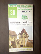 Carte IGN verte  36 nevers autun  1982