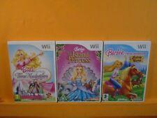 wii BARBIE x3 Horse Adventures + Island Princess + The Three Musketeers PAL UK
