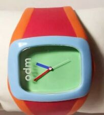 Odm Watch Green Face Orange Red Silicone Wide Band Blue Bezel Men Women New