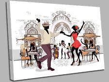 Jazz Dancing Street Music Canvas Wall Art Picture Print