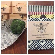 4 Pack - Best Value Beeswax Wraps Australia 2sml 24x24 1 Med 38x26 1 Lg 42x33cm