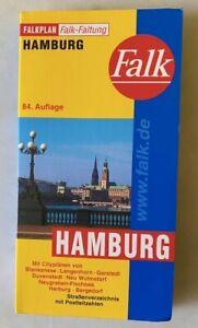 Falk Stadtplan - HAMBURG -Falkfaltung - 84. Auflage - für Sammler - Neuwertig!