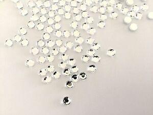 Acrylic Clear AB Rhinestones Crystal Flatback 2 3 4 5 6mm Non-Hotfix Nail Craft