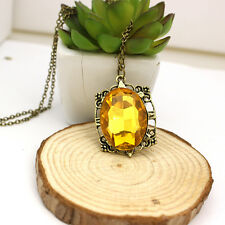 Nice The Vampire Diaries Bonnie's Necklace Yellow Crystal Pendant Necklace Gift