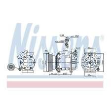 Fits Renault Clio MK3 1.5 dCi Genuine OE Quality Nissens A/C Air Con Compressor