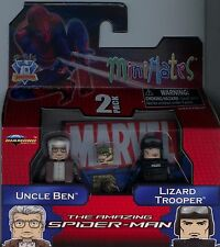 Marvel Minimates Amazing Spiderman Uncle Ben and Lizard Trooper MINT