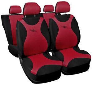 Seat covers fit Ford Fiesta Mk5 Mk6 Mk7 FULL SET  black / red sport style