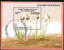 0084+ TIMBRE BENIN  BLOC  LES CHAMPIGNONS 1996