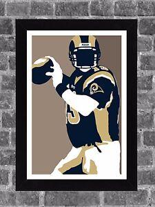 St Louis Rams Kurt Warner Portrait Sports Print Art 11x17
