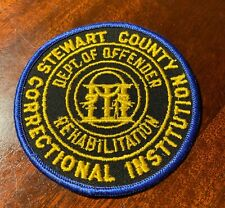 Stewart County Georgia Correctional Dept of Offender Rehab Patch cheesecloth