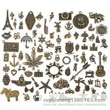 Lot de 80 vintage Pendentifs breloque Bronze mixte de très bonne qualité charm