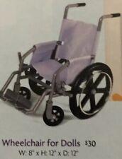 RETIRED American Girl Doll 18 in Wheel Chair Wheelchair lavender purple silver