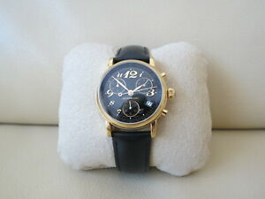 Montblanc Meisterstuck Star Chronograph 7038 Gold-Plated 36mm Date Men`s Watch