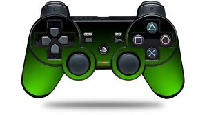 Skin for PS3 Controller Smooth Fades Green Black CONTROLLER NOT INCLUDED