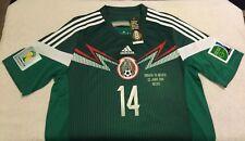 MEXICO CHICHARITO SOCCER JERSEY FIFA WORLD CUP BRASIL 2014 AMERICA CHIVAS PUMAS