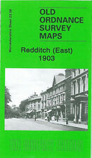 OLD ORDNANCE SURVEY MAP REDDITCH EAST 1903