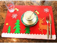 Weihnachten Tischset Platz Matte Elch Deko Set