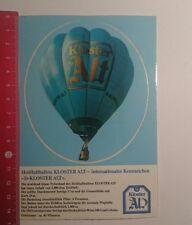 Aufkleber/Sticker: Heißluftballon Kloster Alt (29121619)