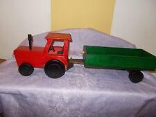 Miniatur Traktor Möbeltransport Holzspielzeug A104BR
