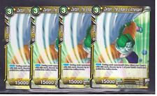 Dragon Ball Super Card Game 4x Zarbon The Emperor's Attendant BT1-101 C